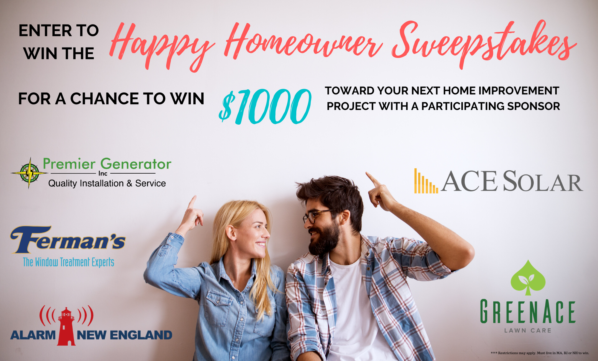 Enter the Happy Homeowner Sweepstakes