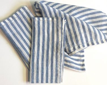 Blue and White Striped Napkins from Simple Pleasures in Providence, RI