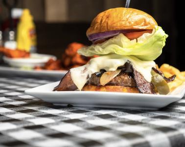 Hamburger at Red Face Jack's