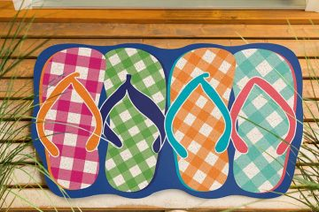Plaid Flip Flops Mat