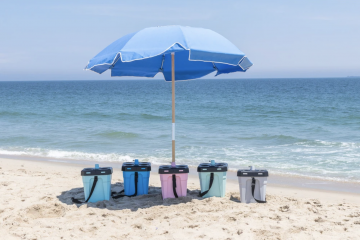 The U-Stand & Beach Umbrella Beach Glass